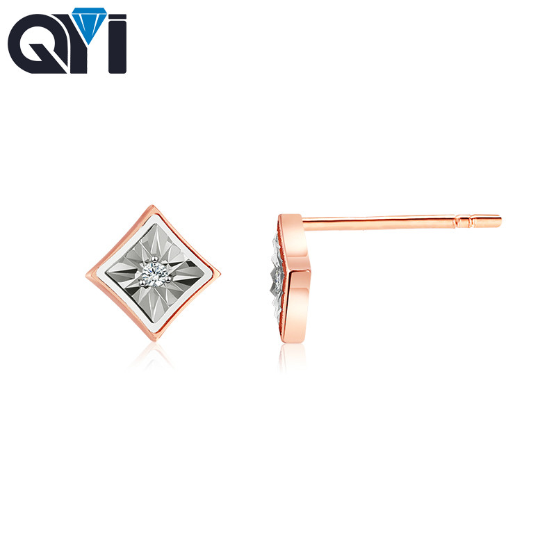 QYI 18k gold earrings for women Natural Diamond Earrings Engagement   Fine Jewelry Wedding Hot Sale Party Women Girl GiftsQYI 18k gold earrings for women Natural Diamond Earrings Engagement   Fine Jewelry Wedding Hot Sale Party Women Girl Gifts