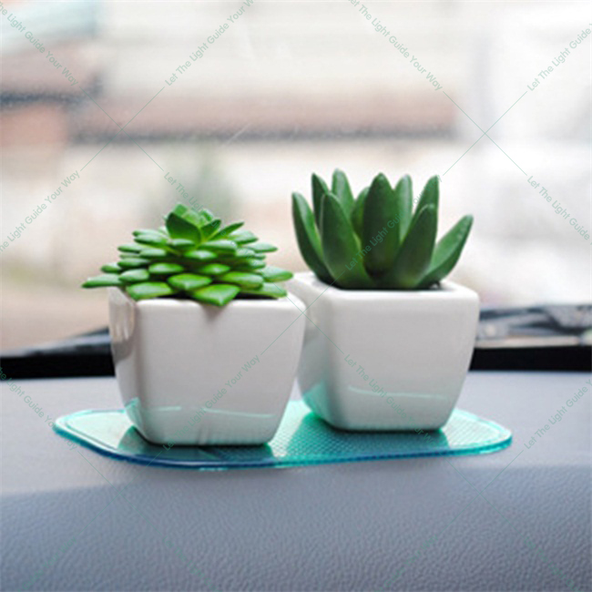 Beautiful Decorative Mini Artificial Potted Fleshiness Plant Windowsill Decoration  Cactus Bonsai In Ceramic Pot Home Car Garden Decor Gift In Artificial U0026  Dried ...