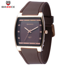 BADACE Luxurious Model 2017 Males Girls silicone strap waterproof alloy sports activities quartz watches informal trend Wristwatches relogio