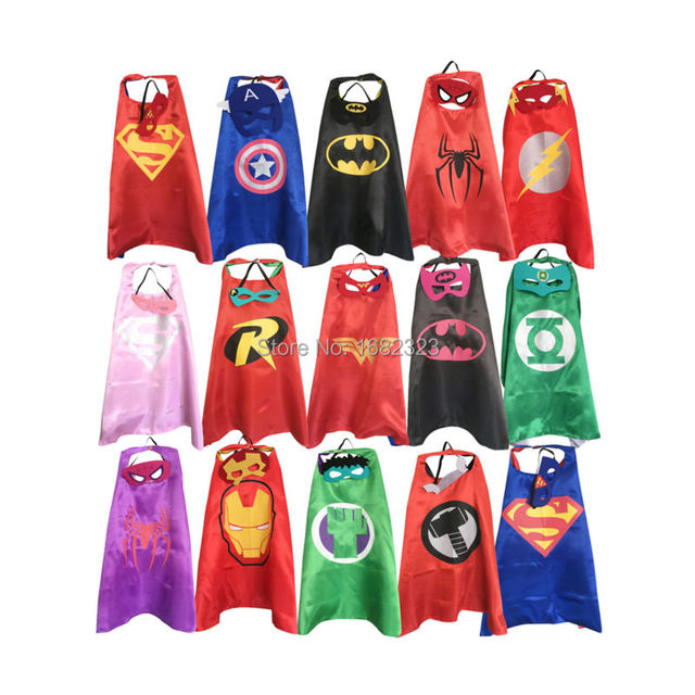 Spiderman Batman Superman Captain America Superhero Children's Cape Mask
