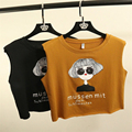 New Women Tank Tops Letters Printed Cute Crop Tops Lady Tees Fashion Summer Style Casual T Shirts Women Kawaii Short TShirts