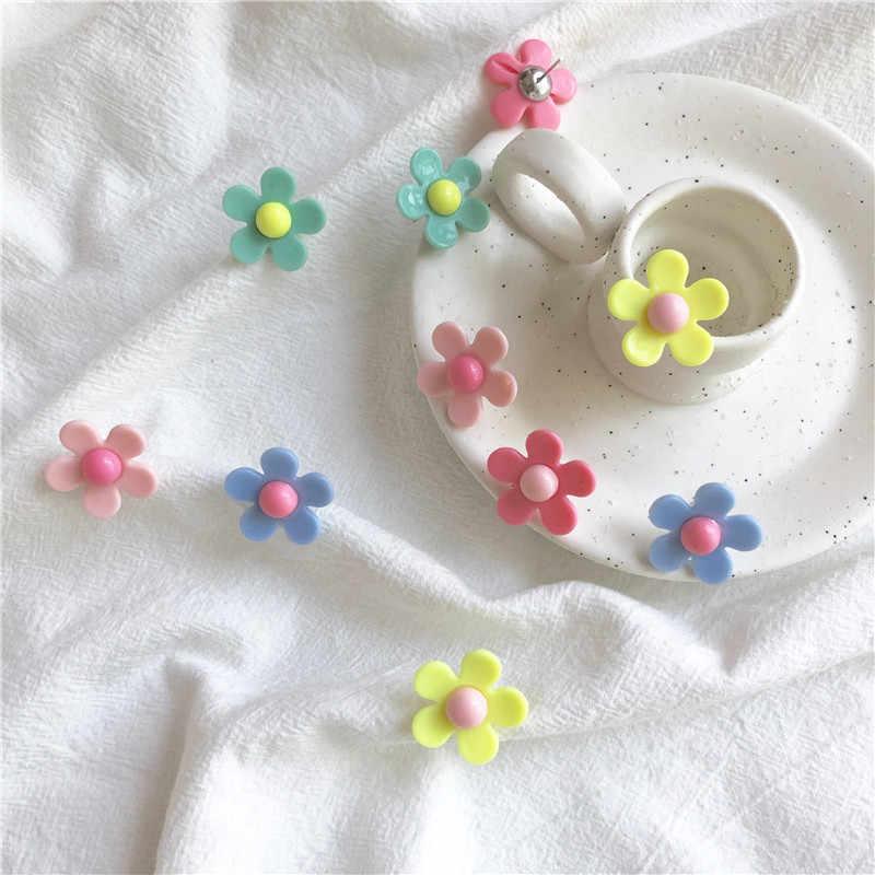الأقراط للنساء الأزياء البوب الفتيات سحر مثير الزهور أقراط العصرية الزفاف هدية الخرز الحلو لطيف الألوان