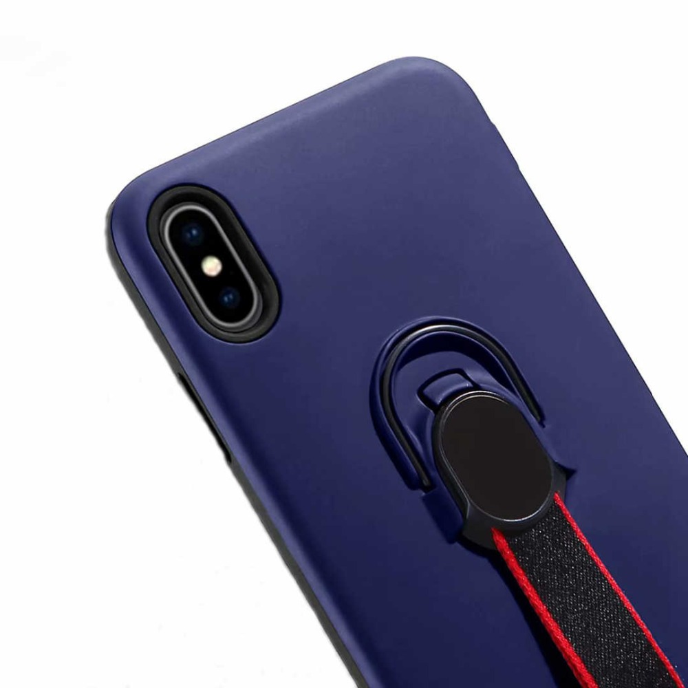 IMIDO Phone Case For iPhone X XS MAX XR 8 7 6 6S Plus 5 5S SE Hide Ring Stand Holder Silicon TPU PC Back Cover For iPhone 7 Plus in Fitted Cases from Cellphones Telecommunications