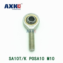 цена на Free shipping SA10T/K POSA10 10mm right hand male outer thread metric rod end joint bearing POS10A