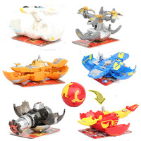 New Arrival 6pcs/set Magnetic Deformation Warship Action Toy Figures Diameter 6cm Capsule Egg Toy Free Cards for Gift