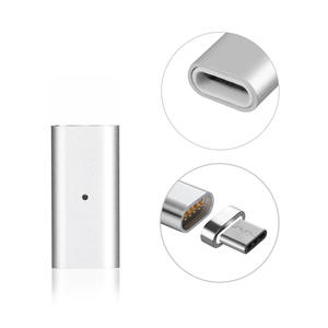 Charging-Charger-Adapter Magnetic Micro-Usb Type-C Android USB-C Silver 1PC for 3-In-1