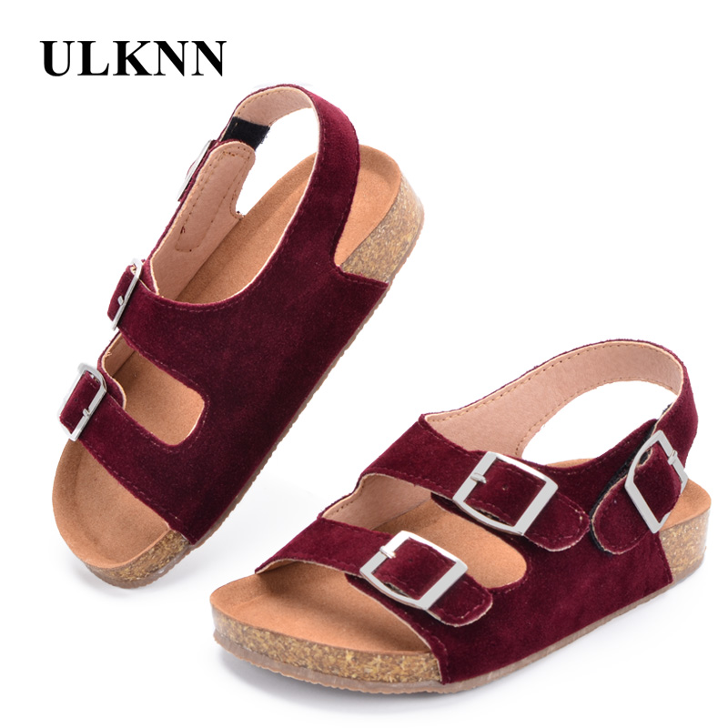 ULKNN Summer Boys Sandals Kid Sandals Children Shoes Cow Musscle Nubuck Leather 2018 New Beach Shoes Childrens Sandals ...