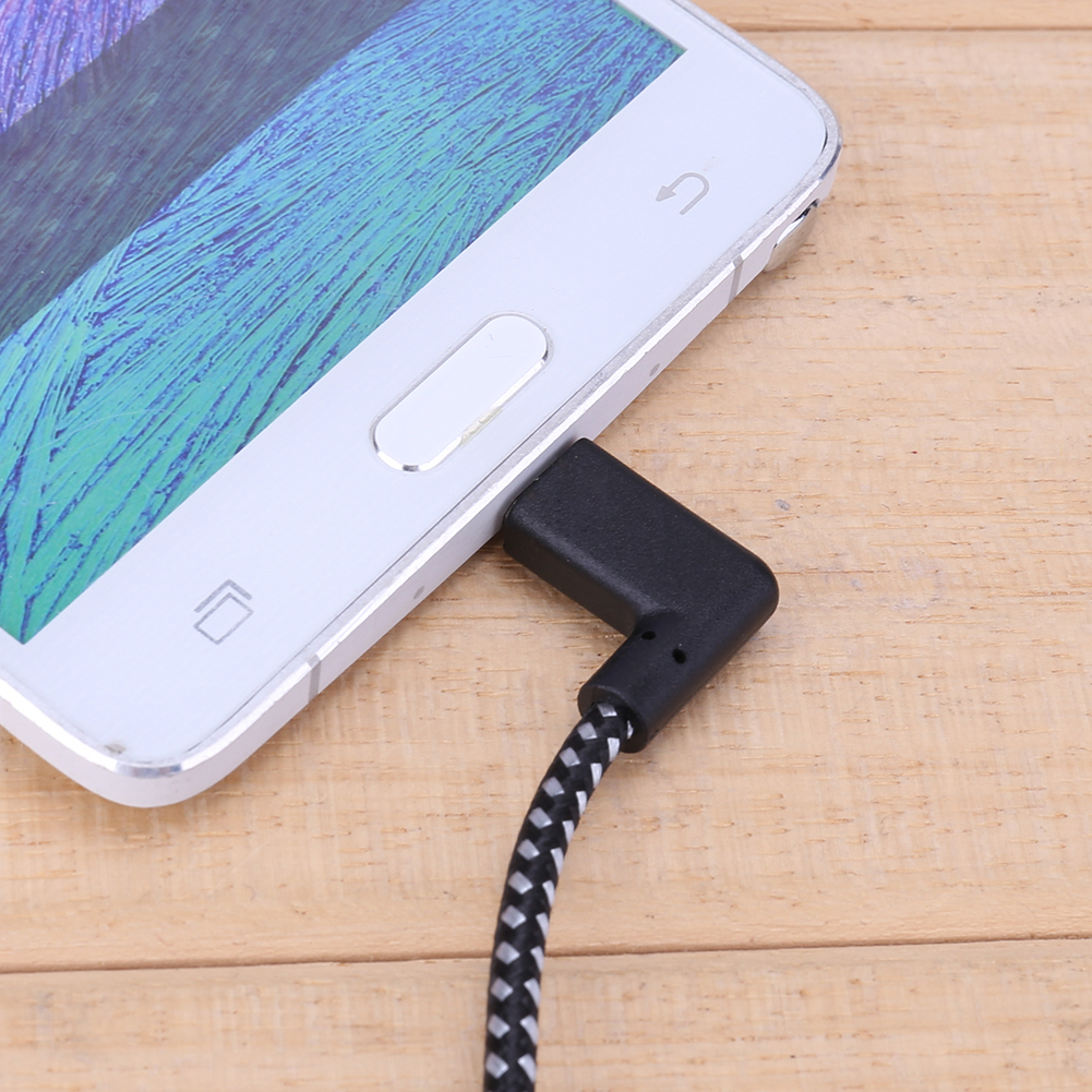 QD81    Connect The Micro Usb Cable To Charge 90 -degree To The Right Angle Of The Black Nylon Braid Synchronization Data SQD81    Connect The Micro Usb Cable To Charge 90 -degree To The Right Angle Of The Black Nylon Braid Synchronization Data S