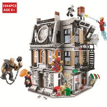цена на 1044Pcs Avengers Infinity War Sanctum Sanctorum Showdown Iron Man Spidermans Building Blocks LegoINGs Bricks Toys Christmas Gift