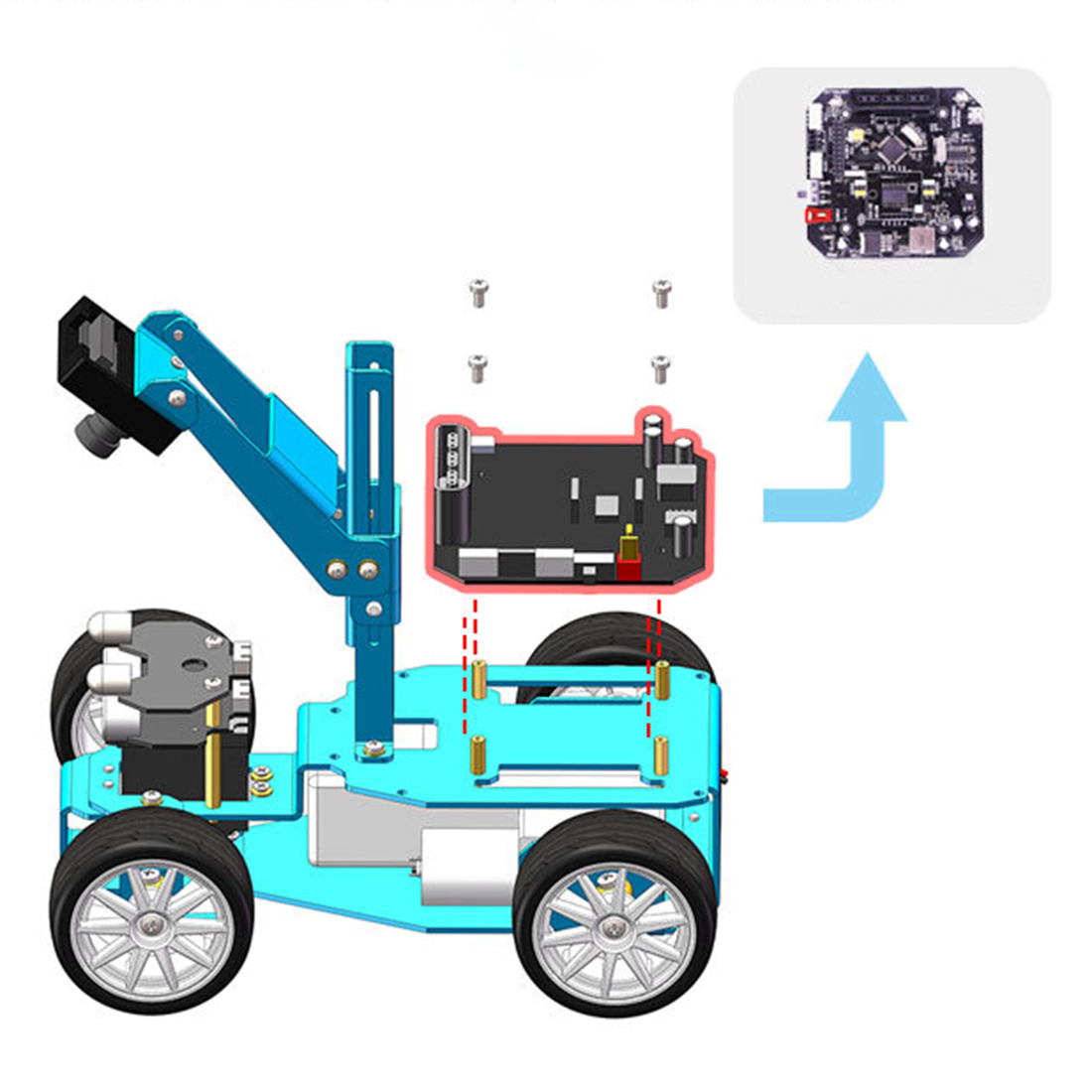 High Quality STM32 Visual Robot OV7670 Camera Tracking OLED Screen Independent Steering Robotics High-Power Motor