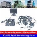 4 - channel hard disk recorder HD 720 P 3G GPS รถบรรทุกการตรวจสอบชุดรถบรรทุกสุขาภิบาล/การเกษตรหัวรถจักร /รถบรรทุกของแท้