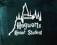 Hogwarts Castle Honor Student - Harry Potter Decal Sticker Vinyl For Car, Wall Laptop Ipad,
