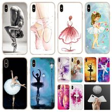 Ballet Ballerina soft Phone Case cover For iPhone
