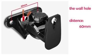 Image 4 - GU8II 1 Pair=2pieces Zinc Alloy Universal Surround Speaker Wall Mount Bracket Rotating Speaker Hanger Loading 15kgs 33lbs