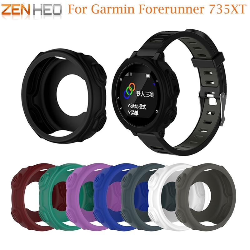 Новый высококачественный силикон защитная рама браслет протектор чехол для Garmin Forerunner 235/735XT gps часы