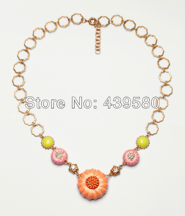 2016 New Hot Sale Costume Jewelry Wholesale Guardian Angel Autumnal Pumpkin Necklace