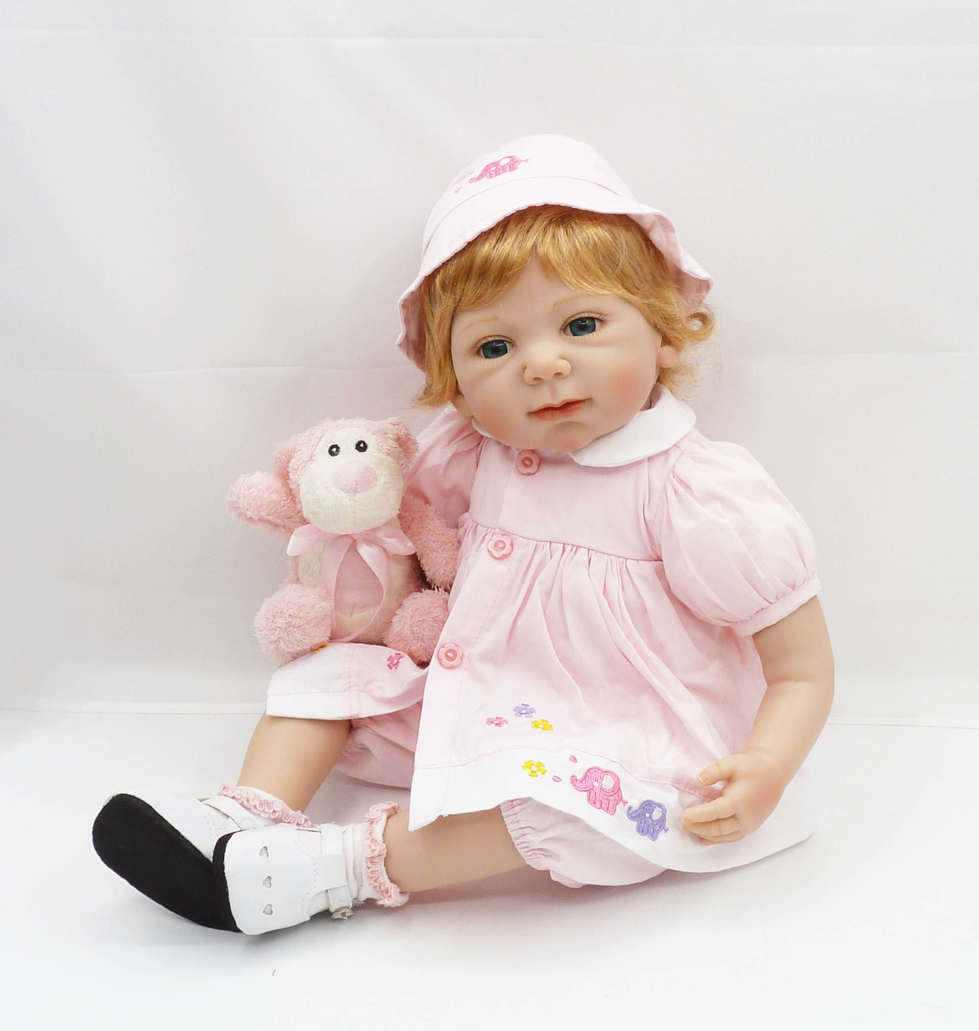 20inch Cotton Body Silicone Bebe Reborn Doll Sleeping Girl with Cute Clothes Baby Kids Toys Girls Playmate Christmas Gifts20inch Cotton Body Silicone Bebe Reborn Doll Sleeping Girl with Cute Clothes Baby Kids Toys Girls Playmate Christmas Gifts