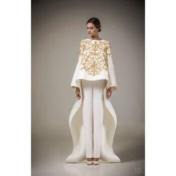 96d4de1fbf1 Ashi Studio одежда с длинным рукавом мусульманские Вечерние платья с  круглым вырезом вышивка кафтан арабский Вечеринка платья Vestido de Festa  Longo