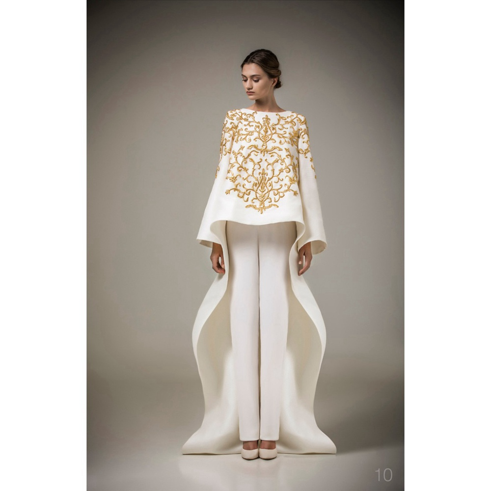 Ashi Studio Long Sleeves Muslim   Evening     Dresses   O neck Embroidery Caftan Arabic   Evening   Party Gowns Vestido de Festa Longo