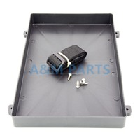 Plastic Battery Tray With Strap For RV Truck Marine Boat 12 8