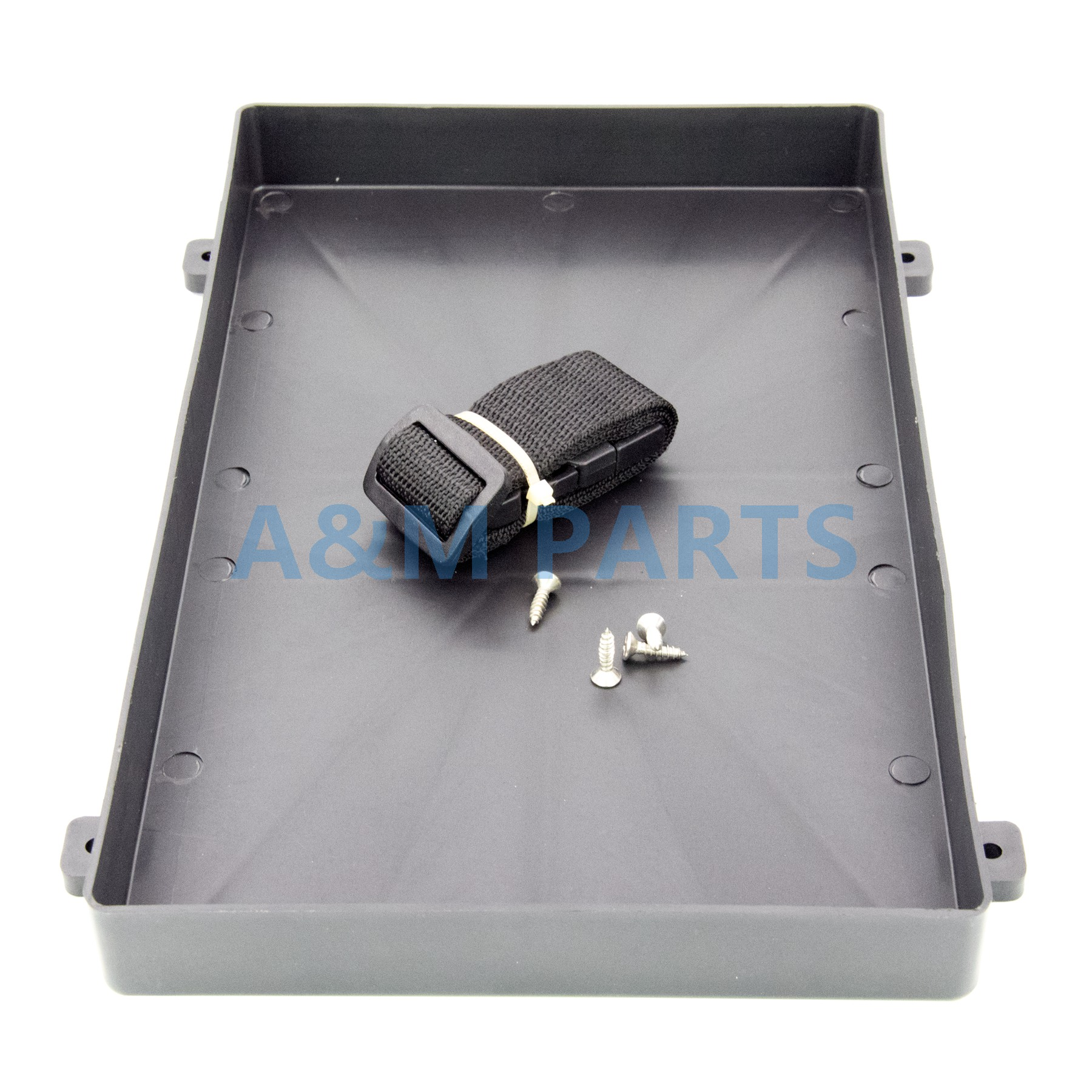 Plastic Battery Tray with Strap for RV Truck Marine Boat 12.8
