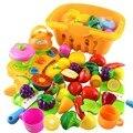 26 pçs/set corte de plástico de frutas legumes cozinha de brinquedo desenvolvimento precoce e educação toys para crianças bebê crianças