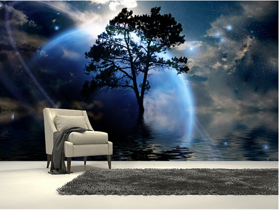 Custom 3D stereoscopic wallpaper,Alien Landscape,cosmic for living room TV bedroom wall background wall waterproof wallpaper custom baby wallpaper snow white and the seven dwarfs bedroom for the children s room mural backdrop stereoscopic 3d