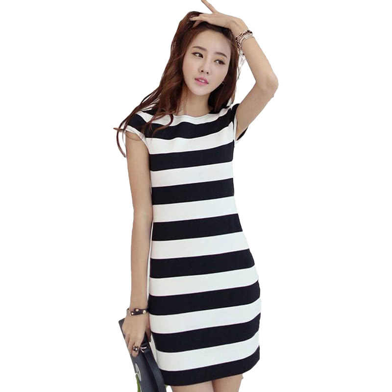 Women Dress Striped Print Cut Out Tie Bow Backless Short Sleeve Mini  Bandage Sexy Casual One c96be844ba1c