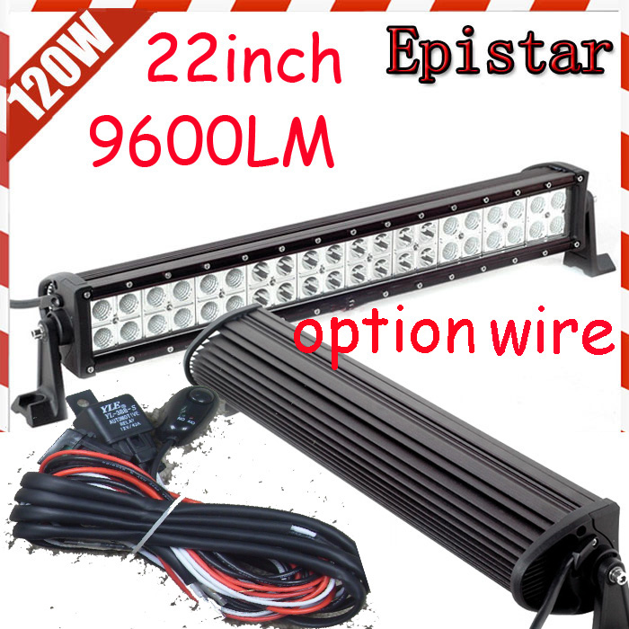 Free DHL/UPS/FEDEX ship! 22 120W,9200LM,10~30V,6500K,LED working bar;led offroad bar,Option wire harness,SUV,LED bar light free dhl ups fedex ship 41 150w 13000lm 10 30v 6500k led working bar led offroad bar option wire harness suv led bar light