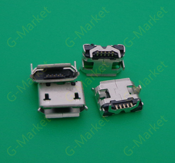 1000PCS/LOT,Micro 5P USB jack connector for phone GPS,charging port data port for phone,Small OX horn,7.2mm
