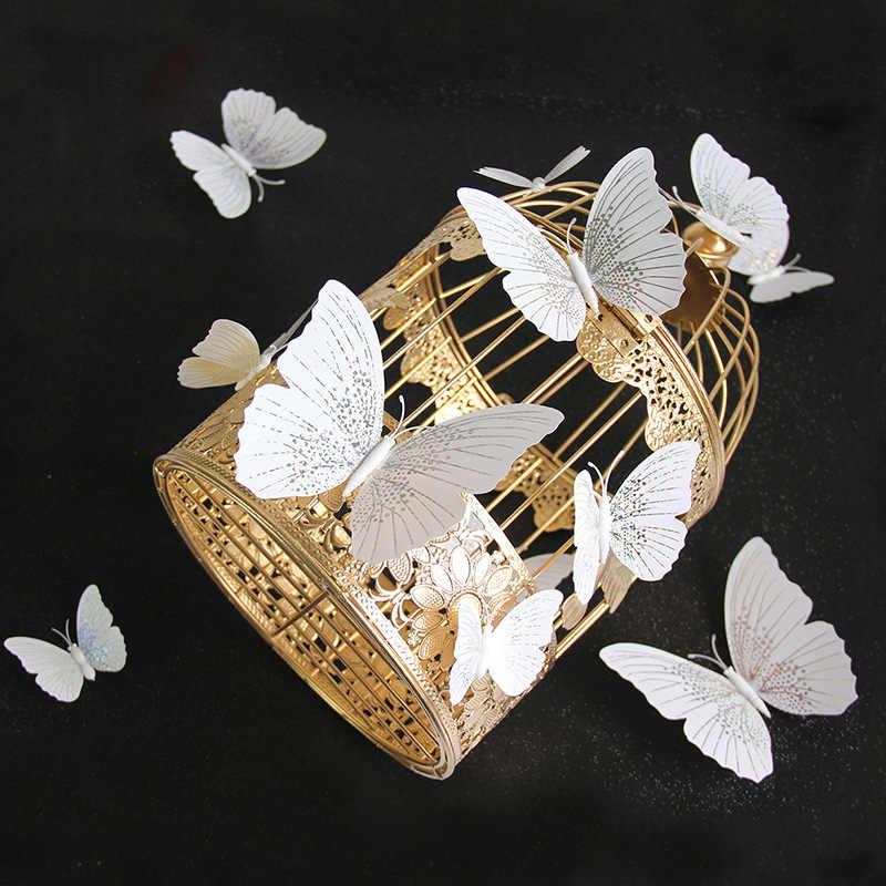 12 adet/takım Ambilight 3D kelebek duvar Sticker kelebekler ev dekorasyon odası dekor buzdolabı mıknatısı duvar çıkartmaları düğün için