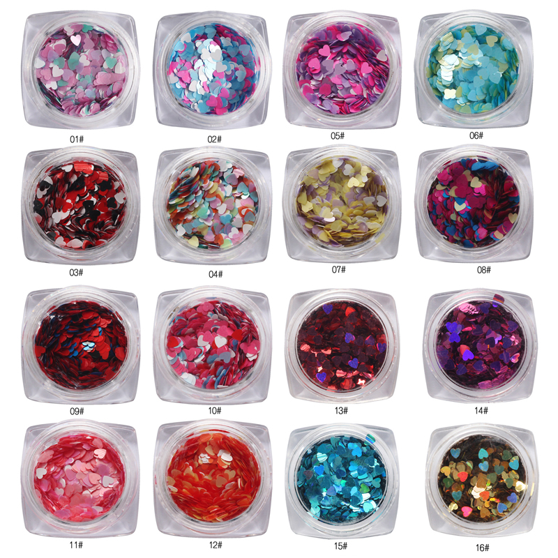 1Box Mixed Alloy Heart Bling FlatBack Cabochon For Needlework Scrapbook Decoration Craft DIY Embellishments Accessories