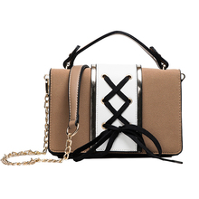 Fashion Women Chains Messenger&Crossbody Bags Female Contrast Color Casual Shopping Handbags Ladies Flap Bag Teenager Girls Gift