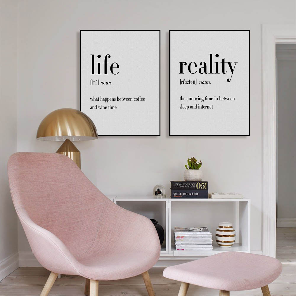 Minimalist Typography Hippie Life Quotes A4 Poster Nordic Living Room Wall Art Print Picture Home Canvas Painting Custom With Free Shipping Worldwide Weposters Com