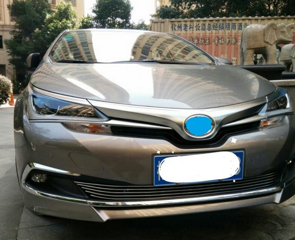For Toyota Corolla Hybrid 2016 Racing Grills Front Grille Suitable Aluminum Material Accessories 1pc In From Automobiles Motorcycles On