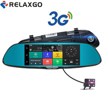 Relaxgo 3G 7 inch Android Car Camera GPS Navigation Bluetooth Car DVR Wifi Video Recorder Dual Lens Dash Cam Full HD 1080P