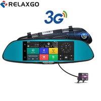 Relaxgo 3G 7 Inch Android Car Camera GPS Navigation Bluetooth Car DVR Wifi Video Recorder Dual
