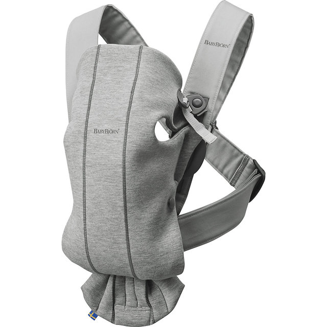 Рюкзак-кенгуру BabyBjorn Mini Cotton Jersey, светло-серый