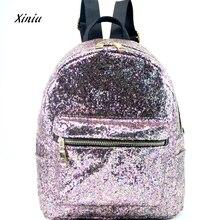Высокое качество Для женщин блестящие Bling рюкзак Для женщин Мода школьный стиль Блёстки Путешествия ранец школьный рюкзак, сумка