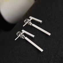 Oly2u Punk Style Simple T Bar Earrings Stud Earrings for Women Fine Jewelry Bijoux Femme ED140