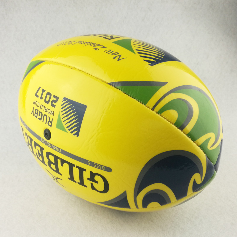400a5dcca Novo 2017 Tamanho 5   Bola Padrão Bola Para O Jogo de Rugby Bolas de  Treinamento de Futebol de futebol americano com bomba em Futebol   Rugby de  Sports ...