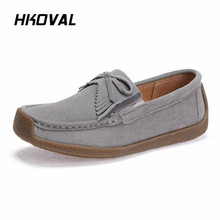 HKOVAL Women Shoes Sneakers Genuine Leather Flats Shoes Female Casual Flat Woman Loafers Spring Summer Autumn Leather Black Flat muyang mie mie women flats 2017 fashion spring casual flat shoes woman genuine leather shoes female soft loafers women shoes