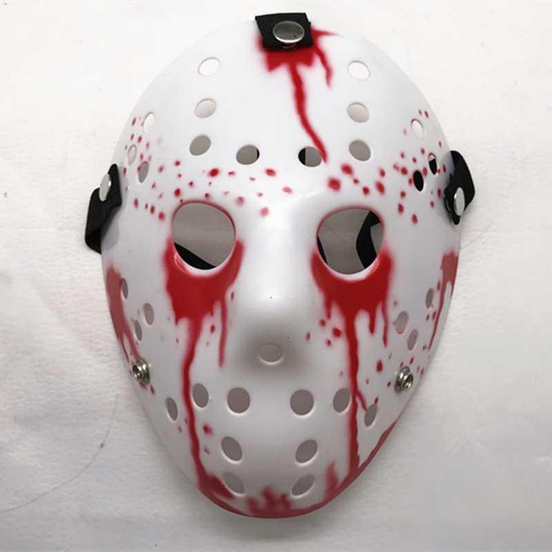 Halloween Mask Voorhees Jumat Bergaya Jason 13th Horor Topeng Hoki Menakutkan Halloween Mask Masker Pesta Malam Jason Masker