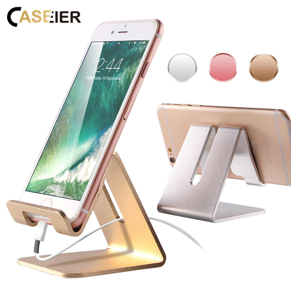 CASEIER Luxury Phone Stand Holder For iPhone X 8 7 6s Plus Universal Strong Desktop Tablet Stand For iPad For Samsung Support in Phone Holders Stands from Cellphones Telecommunications