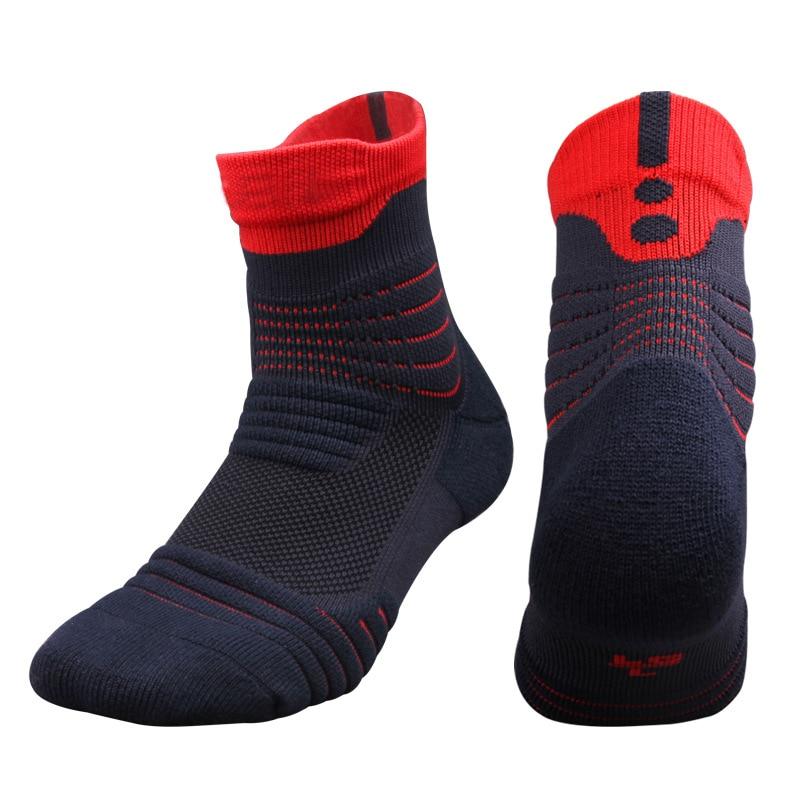 Neue Männer Elite Outdoor Sport Basketball Socken Männer Radfahren Socken Dicker Handtuch Unten Nicht-slip Männlichen Kompression Socken Männer der Socken