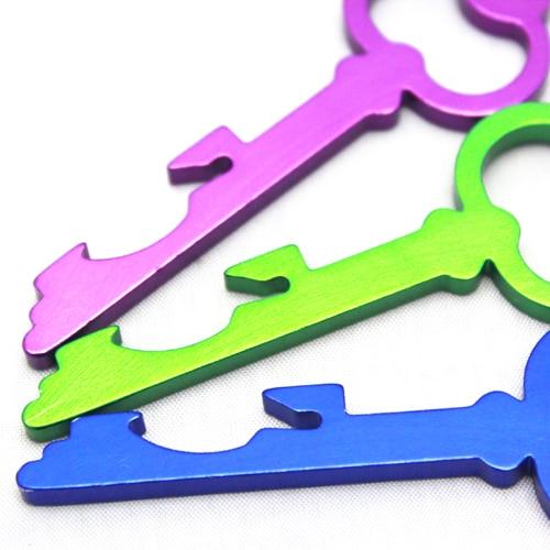 100 шт/партия Разноцветные креативный ключ открывалка для бутылок и ключ из алюминиевого сплава Подвески Свадебные открывалки для бутылок пива печать логотип Добро пожаловать