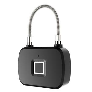 Image 5 - זהב אבטחה חכם מנעול Keyless חכם מנעול טביעת אצבע IP66 עמיד למים נגד גניבת אבטחת מנעול דלת מקרה מזוודות מנעול L13