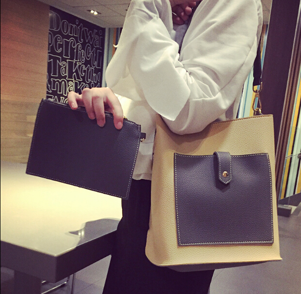 Fashion new messenger bag pu leather simple style bags all-match brief one shoulder women's vintage handbag small h-7858