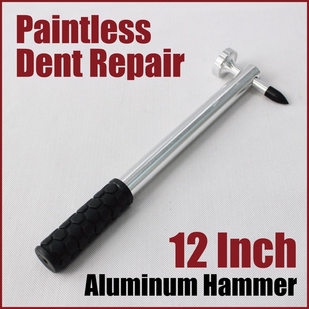 12 inch aluminum dent repair hammer paintless hail damage repair super tap down knockdown pdr tools auto car body work mechanics