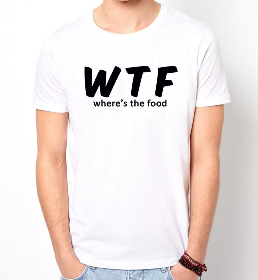 Buy wtf wheres the food print men t shirt for Where to buy casual dress shirts